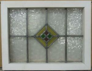 Old English Leaded Stained Glass Window Pretty Diamond Design 18 5 X 14 5