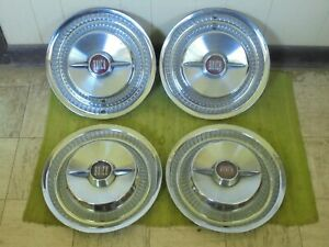 1955 Buick Spinner Hub Caps 15 Set Of 3 Wheel Covers Hubcaps 55 Roadmaster