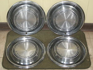 1968 Oldsmobile Hub Caps 14 Wheel Covers 68 Olds Set Of 4 Hubcaps