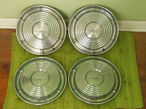 1964 Oldsmobile Hub Caps 14 Set Of 4 Olds Wheel Covers 64 Hubcaps
