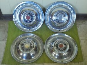 1952 Packard Deluxe Hub Caps 15 Set Of 4 Wheel Covers 52 Hubcaps