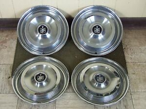 1961 Mercury Hub Caps 14 Set Of 4 Wheel Covers 61 Hubcaps
