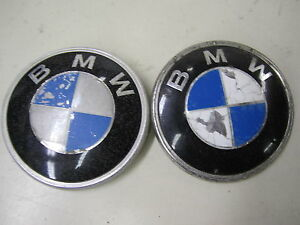 Bmw Roundel Trunk Hood Emblem Ornament Set Of 2 Pieces Oem 51 14 1872969