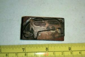 Vintage Letterpress Printing Block Portable Electric Stove Top Burners