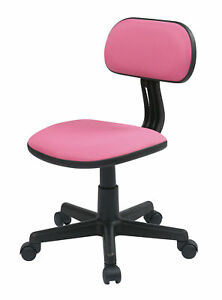 Student Desk Chair Teens Kids Pink Adjustable Height Wheeled Padded Seat And
