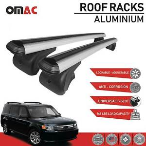 Roof Rack Cross Bars Luggage Carrier Silver Set For Ford Flex 2009 2019