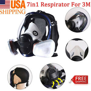 Full Face Gas Mask Painting Spraying Respirator For 3m 6800 Facepiece Us