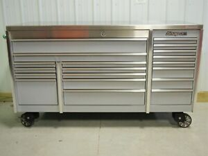 Snap On Arctic Silver Krl7023 Tool Box Stainless Top Hutch