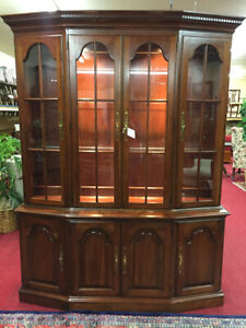 Pennsylvania House Cherry China Cabinet 2 Piece Delivery Available
