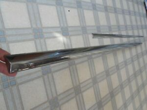 1959 Buick Electra 4 Dr Body Side quarter Panel 2 Piece Set trim Chrome oem