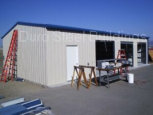 Durobeam Steel 40x80x12 Metal Frame I beam Building Garage Shop Structure Direct