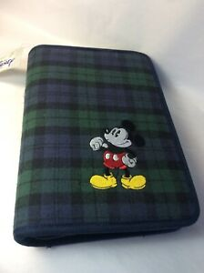 Rare New Mickey Mouse Disney Binder Organizer Planner Schedule Agenda Office Zip