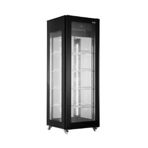 Floor Standing Glass Sided Display Cooler With Top Mounted Compressor
