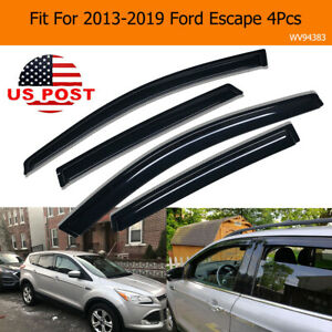 For 2013 2019 Ford Escape Smoke Tinted Rain Guards Window Visor Vent Shade 4pcs