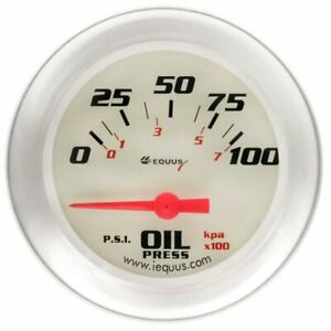 Equus 2 5 8 Inch White Faced Electrical Oil Pressure Gauge Kit Equus 8464 New