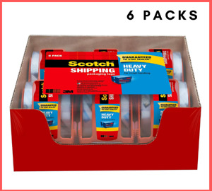Scotch Clear Shipping Packing Tape 3m 2x1000 6 Rolls W dispenser Heavy Duty New