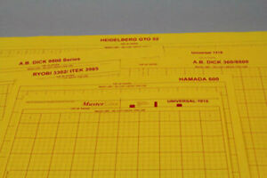Ruled Masking Sheets Heidelberg Kord 64 25 3 4 X 21 5 8 100 Sheets