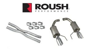 2015 2017 Mustang Gt 5 0 Roush Axle Back Exhaust System X Pipe Resonator Kit