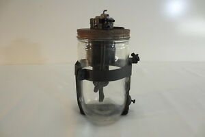 1950 S Vintage Windshield Wiper Washer Jar Glass Bottle Fluid Pump Accessory