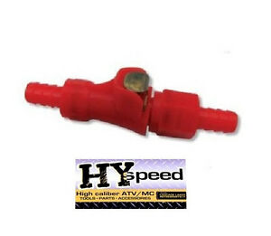 Hyspeed Fuel Gas Line Quick Connect Red Disconnect 1 4 Motorcycle Dual Shut Off