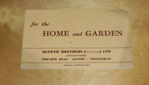 Nursery Furniture Tables Garden Furniture Catalogue 1955 Blower Brothers