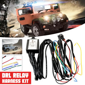 Led Drl Daytime Running Strob Light Dimmer Relay Control Switch Harness Car Suv