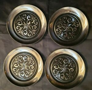 4 International Decorator Stainless 18 8 Coasters Mid Century Modern 4 Acro