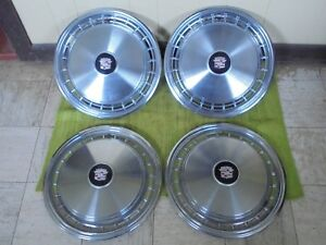 1977 Cadillac Hub Caps 15 Set Of 4 Wheel Cover Caddy Hubcaps 77