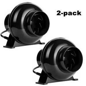 Vivohome 2 Pack 4 Inch Inline Duct Booster Fan Ventilation Air Blower 195cfm