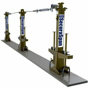 Dbi Sala Securaspan Loop Rebar Horizontal Lifeline System 7400360 Single Span