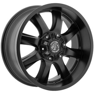 4 New 18 Inch Panther Offroad 578 18x9 5x135 5x5 5 0mm Flat Black Wheels Rims