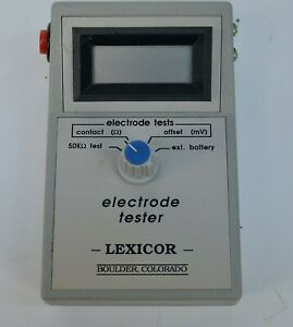 Lexicor Ufi Checktrode Model 1089 Mk Ii Ecg eeg Electrode Impedance Tester