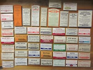 48 Old Pharmacy Apothecary Medicine Bottle Labels Ephemera Nice Selection