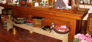 Antique Solid Oak Country Story Counter 9 Feet Long American Just Beauti