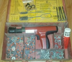 Hilti Dx35 Powder Actuated Nail Gun Ramset With Case Extras