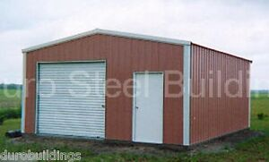 Durobeam Steel 20x34x12 Metal Building Garage Kit Man Cave as Seen On Tv Direct
