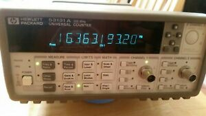 Hp 53131a 225 Mhz 2 channel Universal Frequency Counter 10 Digits s 500 Ps