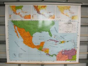 Nystrom Custom World North South Middle America Europe Map Set 5 Layer 1c1