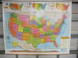 Nystrom World United States Intermediate Political Map Set 3 Layer 1pl991