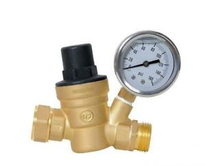 Water Pressure Regulator 0 160 Psi Brass Lead free Adjustable Reducer With