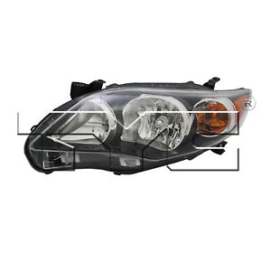 Tyc 20 9196 90 1 Left Headlight Assembly For 2011 2013 Toyota Corolla To2502204