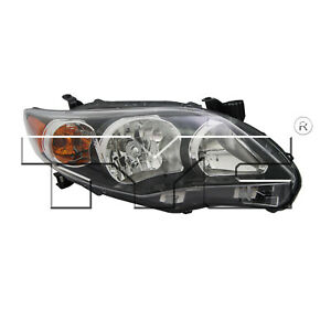 Tyc 20 9195 90 1 Right Headlight Assembly For 2011 2013 Toyota Corolla To2503204
