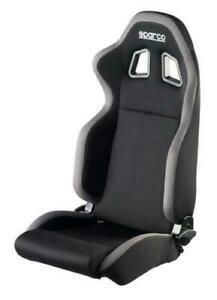 Black Grey Sparco R100 Reclining Cloth Seat Civic Mustang Camaro 00961nrgr New