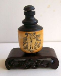 Chinese Tradition Bone Chungong Sex Culture Snuff Bottle 01