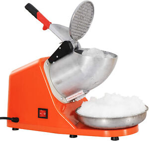 Ice Shaver Machine Snow Cone Shaved Stainless Steel Ice Slush Machine Commercial