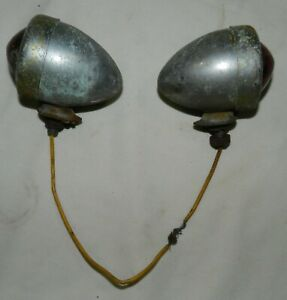 Pair Of Vintage Bullet Shaped Tear Drop Tail Lights For Unknown Car 3 25