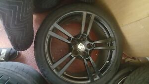 Porsche Cayenne Panamera Black Oem Factory 20 Turbo Ii Wheels Rims And Tires