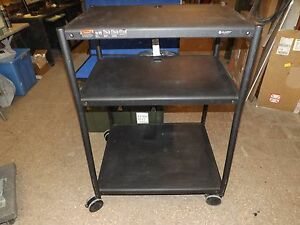Quartet Wide Body Av Cart Black
