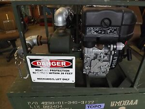 Us Military Diesel Water Pump Lombardini Centrifugal 65 Gpm Unused