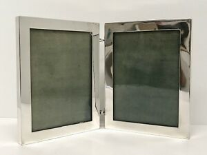 Antiq Hennegan Bates Picture Photo Double Hinged Frames American Sterling Silver